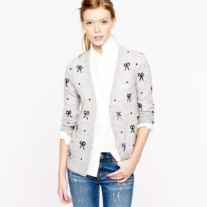 J. Crew Sequin Bow Cardigan - Medium
